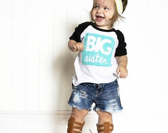 Big Sister Shirt - Big Sister Outfit - Pregnancy Announcement Shirt - Pregnancy Announcement - Birth Announcement - Baby Shower Gift - Baby
