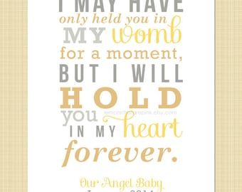 I may have only held you in my womb for a moment - Digital Memorial Print (miscarriage, stillborn, infant, child loss)