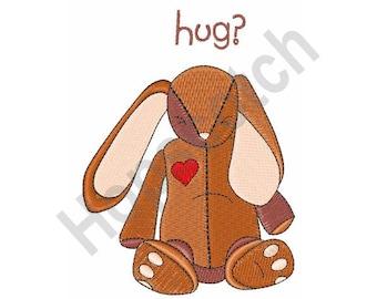 Stuffed Bunny - Machine Embroidery Design, Hug, Bunny, Stuffed Animal