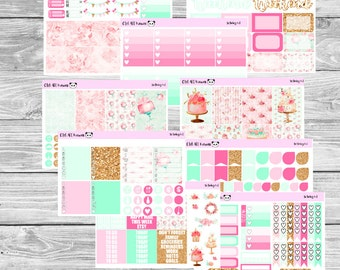 Birthday Kit // Planner Sticker for Erin Condren // Heart Checklist, Washi, Checklists, Full Boxes and MORE!!! (300+ Stickers)