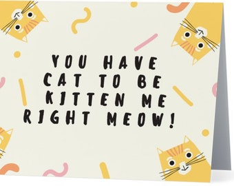 You Have Cat To Be Kitten Me