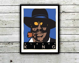 Albert King , Born Under a Bad Sign, Sky is Crying,  Blues Legend Poster