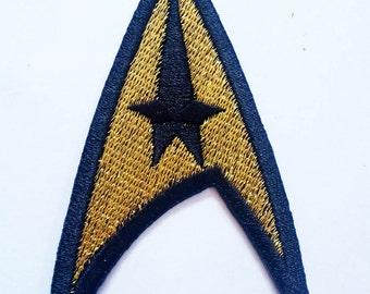 "Gold STAR TREK Insignia Patch Badge 2""x3"""