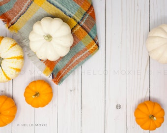 Fall Flat Lay Photo - Fall Styled Stock Photography - Autumn Background Image