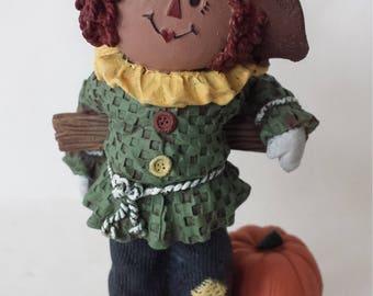 Sarah's Attic Fall Matt Scarecrow Halloween Raggedy Andy with Pumpkin 1995