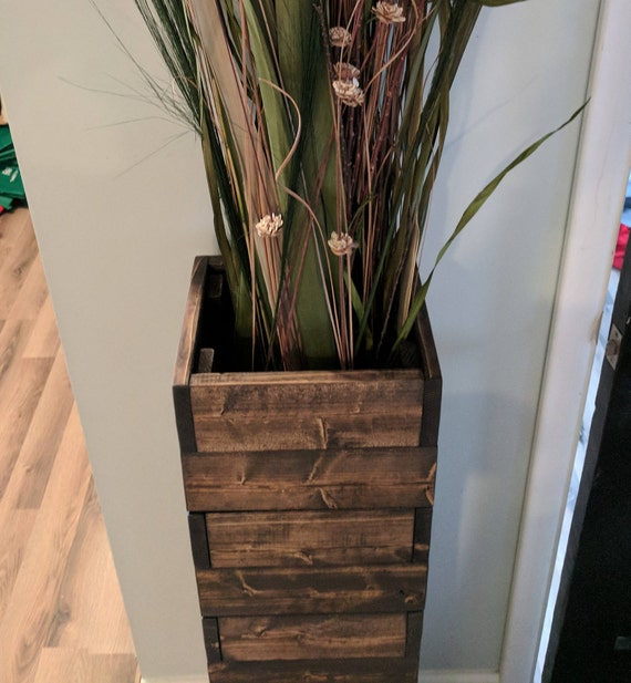Items Similar To Shorter 25 Quot Stacked Rustic Floor Vase