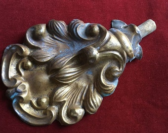 Superbe antique french repousse brass ornament