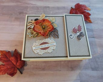 Fall, Autumn Scrapbook Mini Album