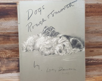 Dogs Rough and Smooth, 1937, Lucy Dawson Mac, vintage book, dog book