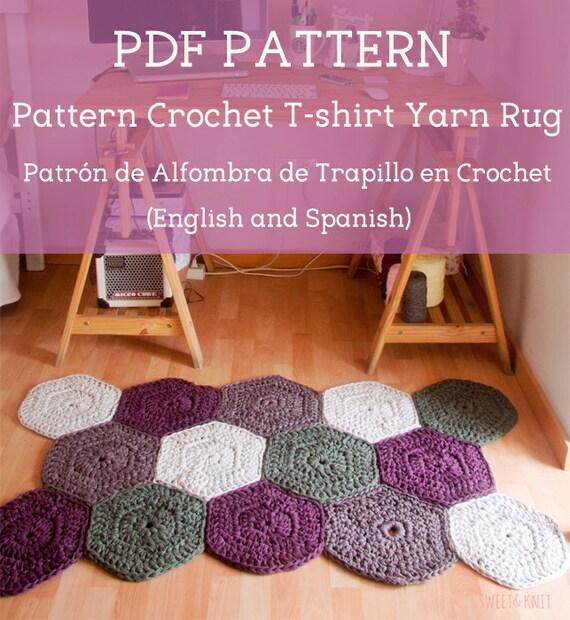 Patr n en pdf de alfombra de trapillo en crochet ingl s y for Alfombra en ingles como se escribe