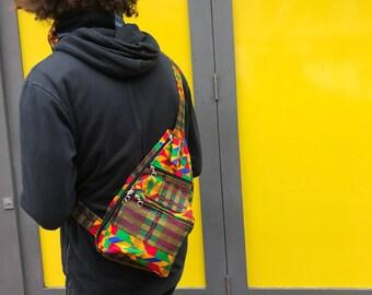 Festival Bag African Travel Bag African Passport Bag African Print Pouch Kente Bag Wax Print Travel Bag African Print Wallet African