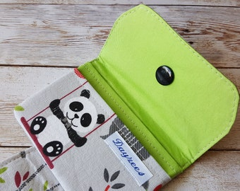 Card wallet | card holder| loyalty card keeper | minimalist wallet | credit card case | travel wallet | panda bear | cute wallet | animals
