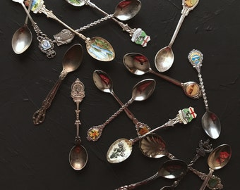 Vintage Silver Teaspoons- Set of 3 [Food Photography Prop and Stlying]