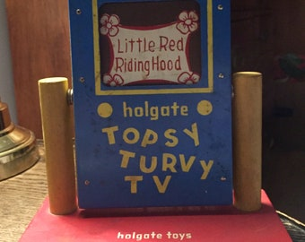 Topsy Turvy Little Red Riding Hood Vintage Holgate Toy Topsy Turvy TV Fairy Tale Story