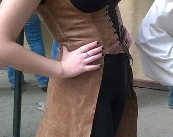 Leather OverDress (The Dragon Slayer), SCA, LARP, Costume, Elf, Warrior,