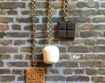 S'mores Friendship Necklace (set of 3 charm necklaces)