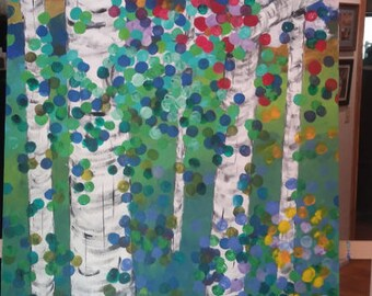 Aspens in Full Color