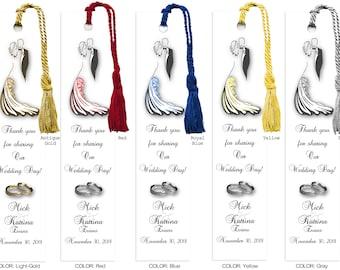 Personalized Laminated Wedding Bookmark, Customized Bookmarker, Wedding Favor Bookmarks, Bookmarkers, WB4