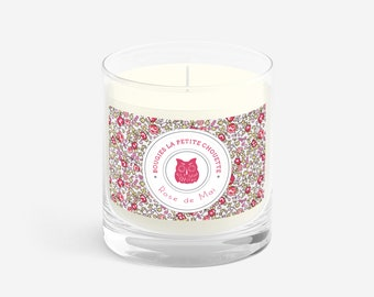Rose scented candle, soy wax, 200g