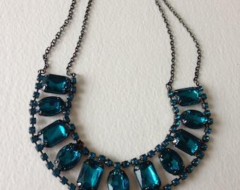 Necklace - pretty blue necklace
