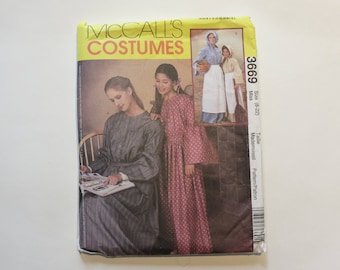 McCall's Costumes Pattern #3669: Women's Colonial Garb, size Misses' 8-22