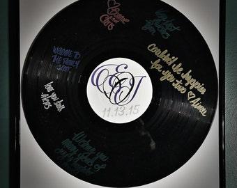 Vinyl Record Guestbook Alternative - Black Frame