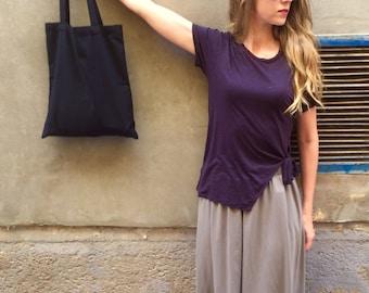 Black Cotton Tote Bag, Tote Bag, Cotton Bag, Plain Bag, Black Tote, Shopping Bag, Weekend Bag, Gym Bag, Yoga Bag, Gift for her, Uni Bag
