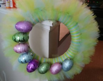Easter/spring tulle wreath