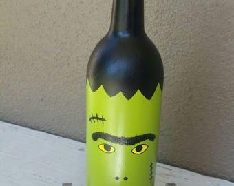 Upcycled Frankenstein Wine Bottle