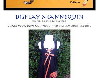 Display Mannequin PDF Pattern Girls size 8- 14 years