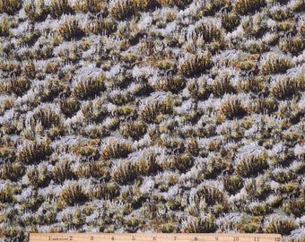 Landscape Fabric Where the Buffalo Roam Brush in Brown/Gray From Quilting Treasures 100% Cotton