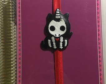 Skeleton Unicorn Planner Band/Bookmark