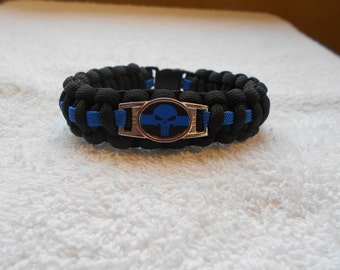 The Punisher Series - Charm # 2 Paracord Bracelet - Hand Made