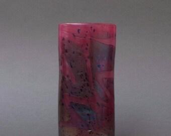 Early 20th C Art Nouveau British Glass Vase