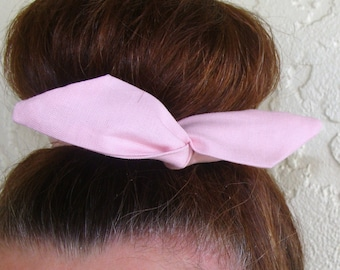 Bun Wrap, Top Knot Wire Wrap Solid Pink