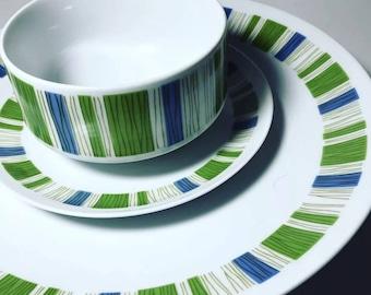 Mikasa Tropicana Large Platters, Plates, and Gravy Bowl EUC Tiki Mid Century