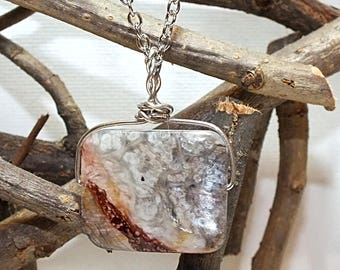 Marble Resin Pendant Necklace