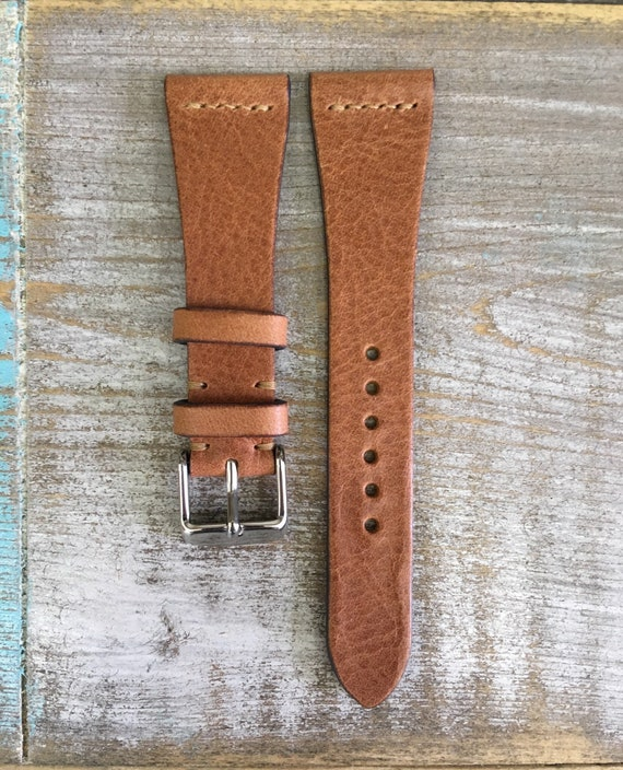 22/16mm Classic Italian Calf watch band - Dark Tan