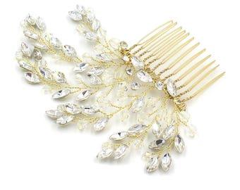 Wedding Bridal Hair Comb ,  Wedding Rhinestone Hair Pins, Flower Girl Hair Comb, Hair Accessories, Hair piece