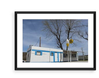 Rural Ice Cream Shop Print, Color Photo, Landscape Photography, Wall Art Decor, Nature Framed Print