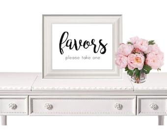 Wedding Favors Sign, Wedding Sign, Favors Sign, Wedding Printable