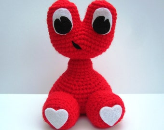 "Crochet Pattern toy Amigurumi Alien Monster ""Love Baby"" Amigurumi Pattern- PDF Format- Permission to Sell what you make"