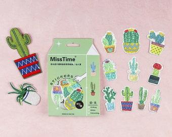 30pcs, Plant sticker, cactus stickers, cacti, sticker flakes, Planner Sticker, kawaii stationary, Scrapbook Sticker, journal, cute