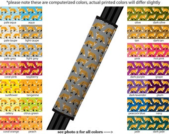 Seat Belt Cover // AUTO PAD // Car Accessories // seat belt pad - Fox - Pick Your Own Color - Custom seatbelt woodland animal pattern