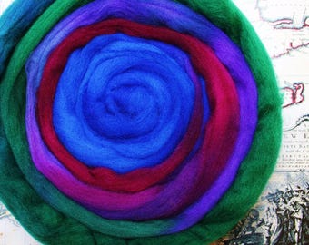 18.5 Micron Merino Wool Fibre 50g- Jewel