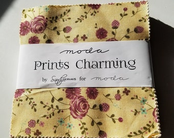 Prints Charming Charm Pack by Sandy Gervais for Moda Fabrics