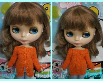 2 in 1: cardigan/sweater for Blythe, but available for any kind of dolls (momoko, barbie, fashion royalty, pullip, bjd...)