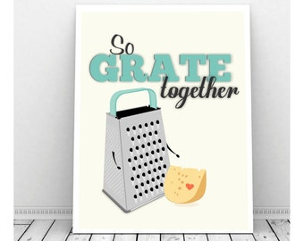 Funny Kitchen Art, Instant Download, Cheese Grater Art, Kitchen Sign, Kitchen Print, Funny Kitchen Sign, Cheese Art, Cute Kitchen Art ,