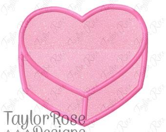 Candy Conversation Heart Applique Machine Embroidery Design 2x2 3x3 4x4 5x5 6x6 Convo Love Valentine's Day Valentines INSTANT DOWNLOAD