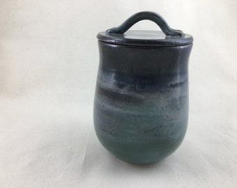Ceramic Canister with Lid / Treat Jar / Cookie Jar / Canister / Wheel Thrown Jar / Handmade - READY TO SHIP